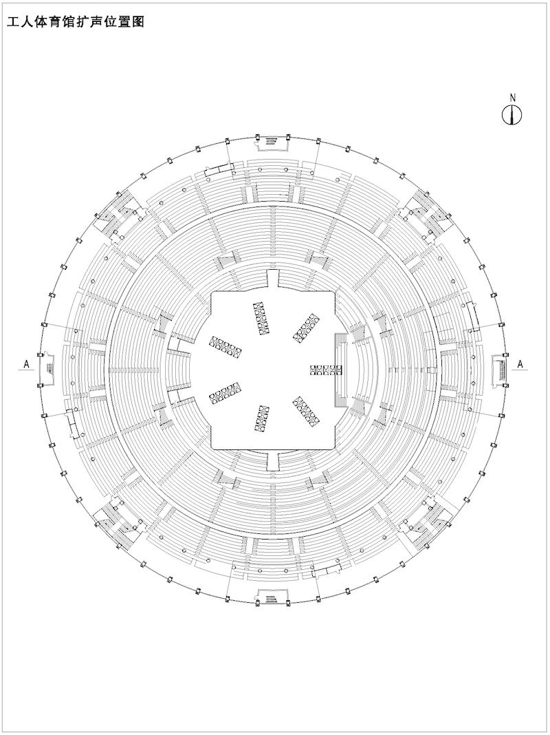 体育场扩声位置图02