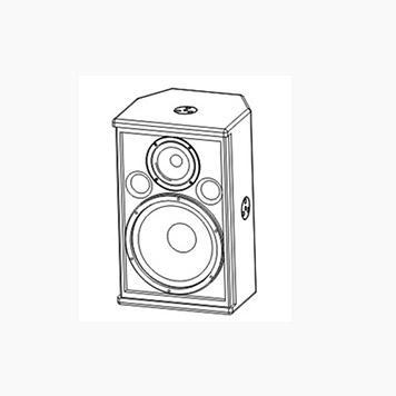 X8 内置2分频8英寸全频扬声器系统