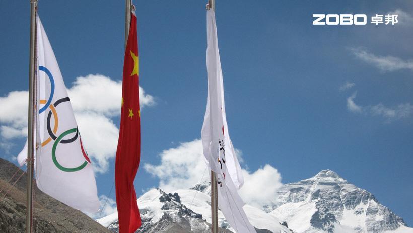 奥运火炬登上珠峰使用音视频系统